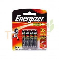 ENERGIZER MAX AAA 1.5V E92BP 4'S