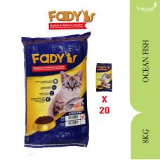 FADY CAT FOOD OCEAN FISH 8KG (20 PACKET)