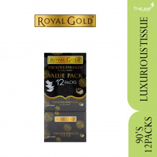 ROYAL GOLD LUXURIOUS WHITE TRAVEL PACK TISSUE 3 PLY (90'SX12)