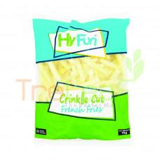 HY FUN FRENCH CRINKLE CUT FRIES 1KG