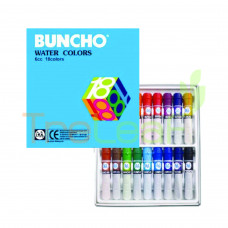 STATIONERY BUNCHO WATER COLOUR 6CC 18COLOUR