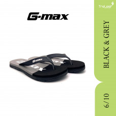 GMAX SLIPPERS FOR MEN 6/10 BLK/RED & BLK/GREY