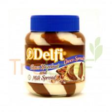 DELFI CHOCO SPREAD CHOCO HAZELNUT & MILK 350GM