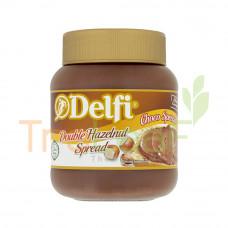 DELFI CHOCO SPREAD DOUBLE HAZELNUT 350GM