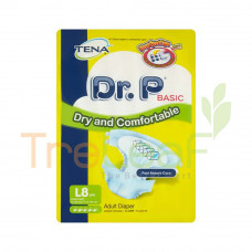 DR.P BASIC ADULT DIAPERS (L) 8'S
