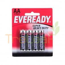EVEREADY BAT. SUPER HEAVY DUTY AA 1215BP 4'S