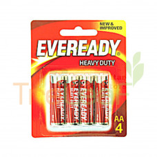 EVEREADY HEAVY DUTY AA R6 SIZE 1.5V 1015BP 4'S