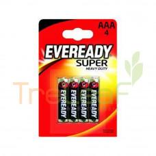 EVEREADY BAT. SUPER HEAVY DUTY AAA -1212BP 4'S