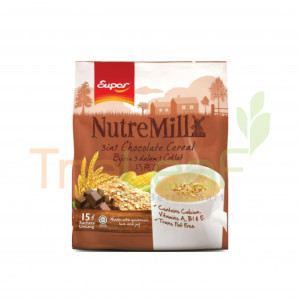 SUPER NUTREMILL 3 IN 1 CEREAL CHOCOLATE 30GMX15'S