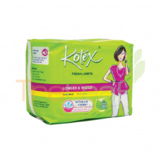 KOTEX F/LINERS LONG&WIDER SCENTED 16'S