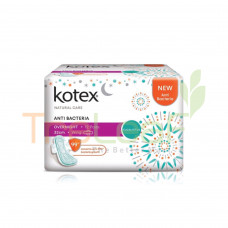 KOTEX NATURAL CARE A/BACTERIA OVERNIGHT 32CM WING 12'S
