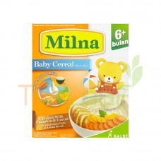 MILNA CEREAL CHICKEN WITH PUMPKIN & CARROT (6+) 120GM