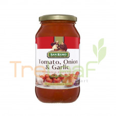SAN REMO PASTA SAUCE TOMATO,ONION&GARLIC 500GM