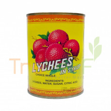 GOLD WHOLE LYCHEE IN SYRUP EDIBLE GOLD 565GM