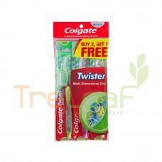 COLGATE TOOTHBRUSH TWISTER MEDIUM BUY 2 FREE 1