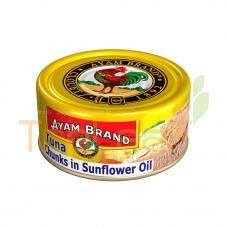 AYAM BRAND TUNA CHUNKS IN SUNFLOWER OIL 185GM