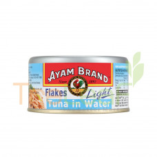 AYAM BRAND FLAKES LIGHT TUNA IN WATER 150G