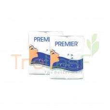 PREMIER FACIAL COTTON 2IN1 FREE 3PK POCKET TISSUE 100'S