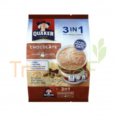 QUAKER 3IN1 OAT CEREAL DRINK CHOCOLATE 12(28GX15'S)