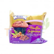 GARDENIA MUFFIN SUPREME CHUNKY CHOC.& WALNUT 68GM