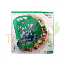 GARDENIA ROLL-UP WRAPS WHOLEMEAL 225GM