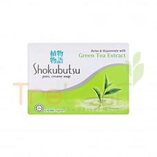 SHOKUBUTSU BAR SOAP GREEN TEA EXTRACT (90GM)