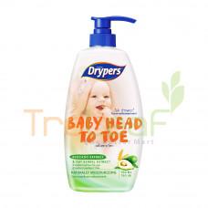 DRYPERS BABY HEAD TO TOE AVOCADO (750ML)